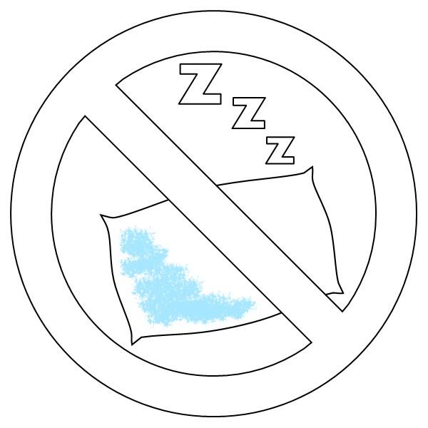 Kolorowanka znak zakazu zpoduszkÄ… iliterami Zzz